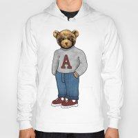 teddy bear Hoodies featuring teddy bear by ulas okuyucu