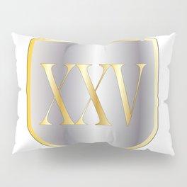 Silver Anniversary Pillow Sham