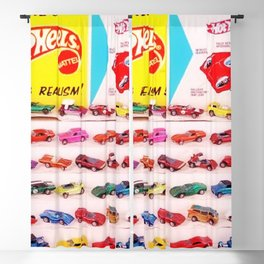 1970's Original Hot Wheels Redline Toy Department Store Display Poster Blackout Curtain