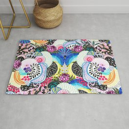 Whimsical abstract hand paint design Rug