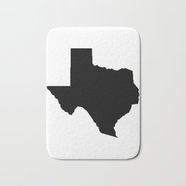 Texas orange and white university texans longhorns college football sports Bath Mat