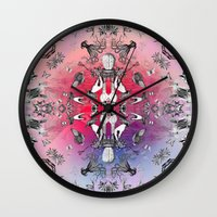 philosophy Wall Clocks featuring The Boudoir Philosophy by Antagoniste