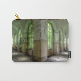 Green Halls in Abandoned Hospital Carry-All Pouch