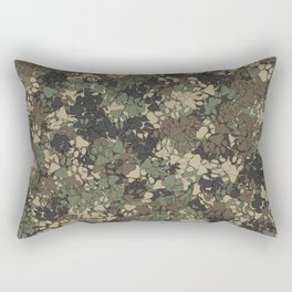 Wolf paw prints camouflage Rectangular Pillow