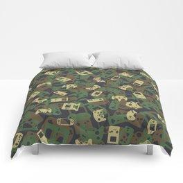 Gamer Camo WOODLAND Comforters