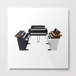 Vintage Keyboards / Synthesizers Metal Print