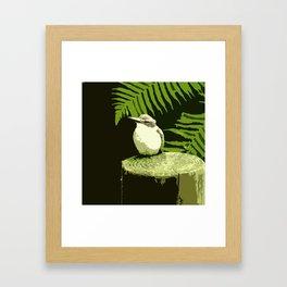 Kotare illustrated Framed Art Print