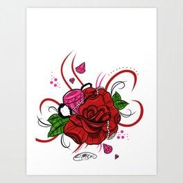 Rose & Diamonds Art Print