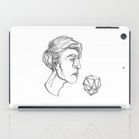 nicolas cage iPad Cases featuring Nicolas Flamel by Lydia Képinski