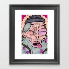 BLACK EYE BILL Framed Art Print