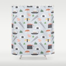 Happy Sushi Shower Curtain