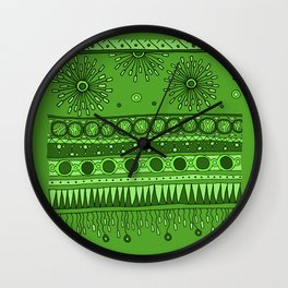 Yzor pattern 007 green Wall Clock