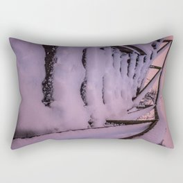 Snow covered Stairway to Heaven Rectangular Pillow