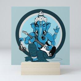 Ganesha rocks ! (v2) Mini Art Print