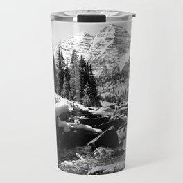 Maroon Bells Mountains Colorado Travel Mug