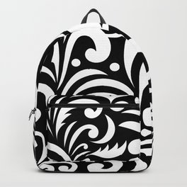 black and white abstract background Backpack