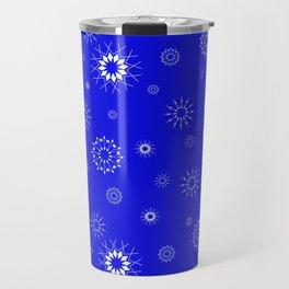 Snowflakes seamless pattern, textile, surface pattern Travel Mug