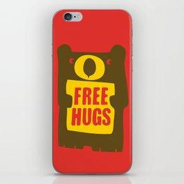 Free bear hugs iPhone Skin