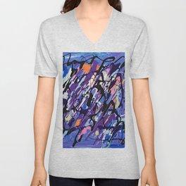 Purple Splash Unisex V-Neck