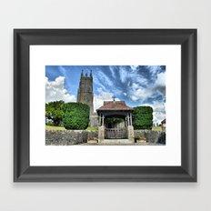church on the hill Framed Art Print