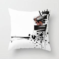 Abst-ink#01 Throw Pillow