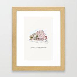 Charleston • South Carolina (Corner of King) Framed Art Print