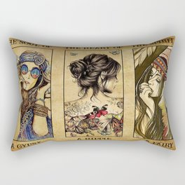 The soul of a gypsy the heart of a hippie poster Rectangular Pillow