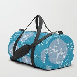 Mola Mola Blue-Ocean sunfish Duffle Bag