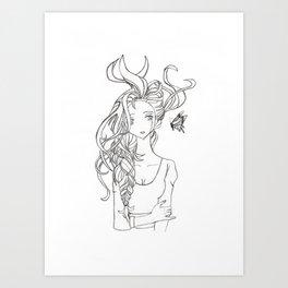 Butterfly Girl Art Print