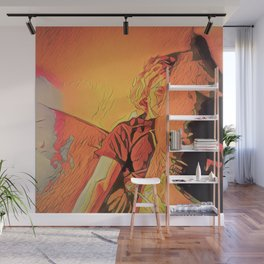 inside on rainy evenings with the incandescent bulb plugged in Wall Mural