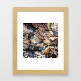 Jagged Rock Texture Framed Art Print