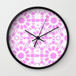 Pink Arabesque Wall Clock