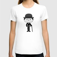 charlie chaplin T-shirts featuring Charlie Chaplin by Sombras Blancas Art & Design