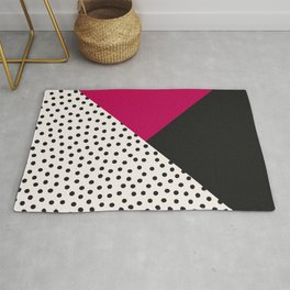 Dots and Colors - Pink Charcoal Rug
