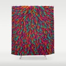 Varicoloured feathers Shower Curtain