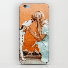 Pet Bound #pets #animals #animalslover #painting iPhone Skin