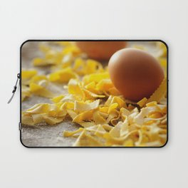 Fresh italian Pasta with egg Laptop Sleeve