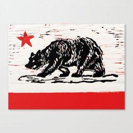 bear flag Canvas Print