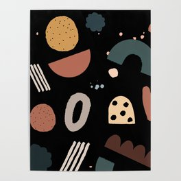 Geo Shapes Luxe Poster