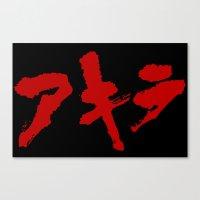 grafitti Canvas Prints featuring Akira Grafitti by InvaderDig