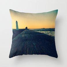 Concrete Nature Throw Pillow