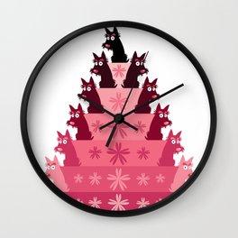 Crimson Groovy cake Wall Clock