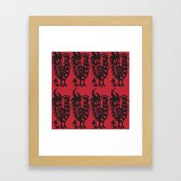Rooster pattern Framed Art Print