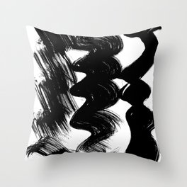 Brush stroke Throw Pillow