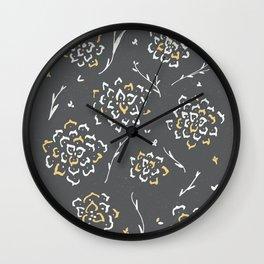 Mantra's flower Wall Clock