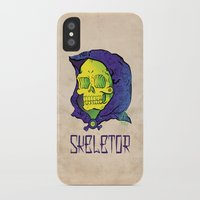 skeletor iPhone & iPod Cases featuring Old School Skeletor by Miguel Manrique