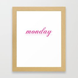 Rule for Monday Funny Graphic T-shirt Framed Art Print