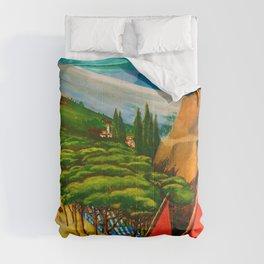 Vintage Abruzzo Italy Travel Comforters