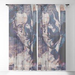 Sherlock Holmes in Latin Sheer Curtain