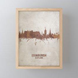 Edinburgh Scotland Rust Skyline Framed Mini Art Print